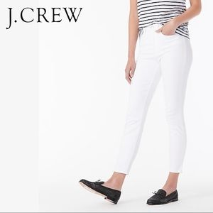 """J. Crew Tall 9"""" high-rise toothpick jean in white"""